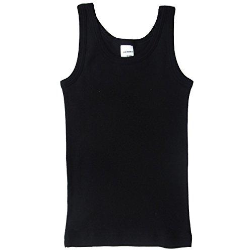 HERMKO 62800 Kinder Funktions-Tank Top schnelltrocknendes Unterhemd für Jungen und Mädchen, Farbe:schwarz, Größe:140