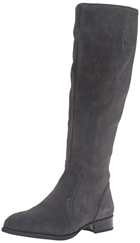 Nine West Women's Nicolah Suede Knee-High Boot, Dark Grey, 7.5 M US (Knee Boots West High Nine)