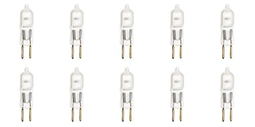 12vmonster 10Stück AC 240V matt 35W Warm Weiß Halogen-Leuchtmittel GY6.35RHX JCD Spot Light Ersatz -