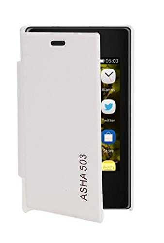 RiAN Flip Cover Case For Nokia Asha 503 (White)  available at amazon for Rs.149