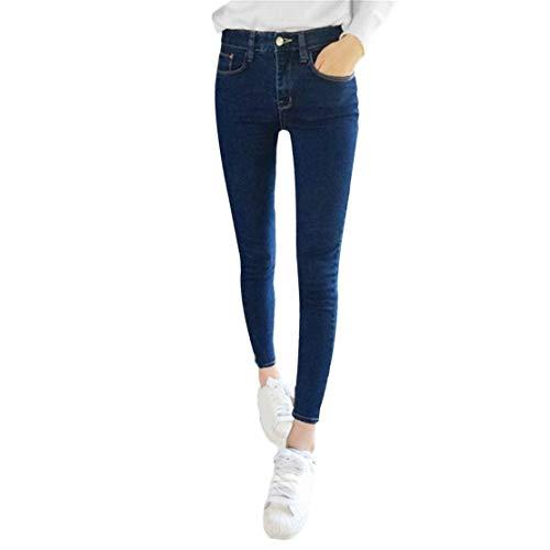 Moda sottile sottile elastico denim skinny alto vita alta pantaloni stretch leggings jeans imitazione per le donne
