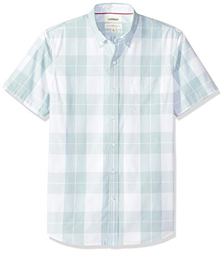 Goodthreads Herren Regular-Fit Hemd, Blau (Light Blue Plaid Lig), Gr. Large -