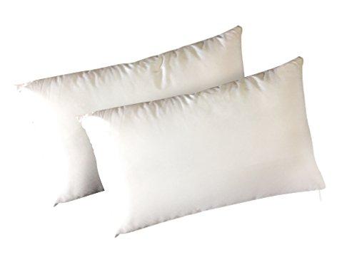 Panini tessuti coppia federe in 100% cotone per cuscino guanciale 52x82 cm made in italy
