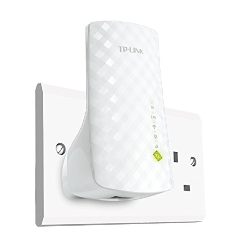 Price comparison product image TP-Link RE200 AC750 Universal Dual Band Range Extender,  Broadband / Wi-Fi Extender,  Wi-Fi Booster / Hotspot with Ethernet Port,  Plug and Play,  Smart Signal Indicator,  UK Plug