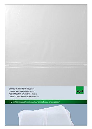 Sigel SM180 Doppel-Transparenthüllen für A4, 10 Stück