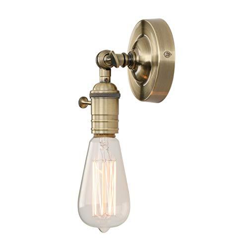 Phansthy Vintage Industrie Loft-Wandlampen Wandbeleuchtung Wandleuchten Antik Deko Design Wandbeleuchtung Küchenwandleuchte (Bronze Farbe)