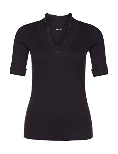 Marc Cain Essentials Damen T-Shirt +E4859J50 Blau (midnight blue 395)