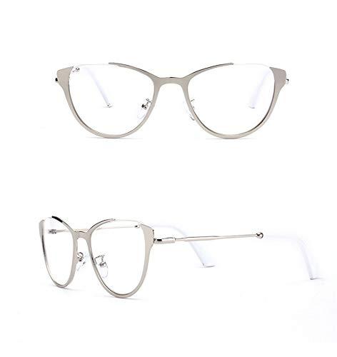 AdorabFrames Brille flacher Spiegel Mode Stahl Brillengestell Trend hängender Draht Brillengestell Unisex silberner Rahmen