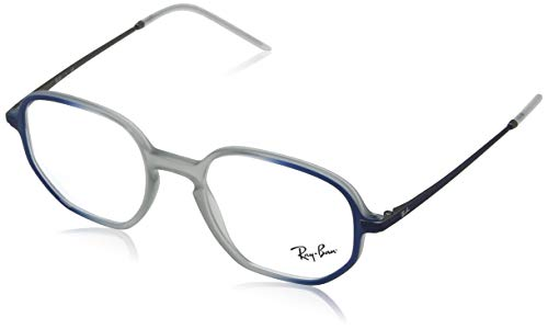Ray-Ban Unisex-Erwachsene 0rx 7152 5794 50 Brillengestelle, Blau (Rubber Grey On Top Shiny Blue),