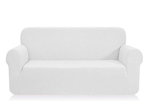 CHUN YI 1-Stück Jacquard Sofaüberwurf, Sofaüberzug, Sofahusse, Sofabezug für Sofa, Couch, Sessel, mehrere Farben (Weiß, 4-sitzer)