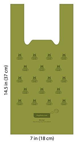 Pogi's Hundekotbeutel – 300 Tüten mit Verschlussträgern – große, biologisch abbaubare, parfümierte, tropfsichere Hundetüten - 3