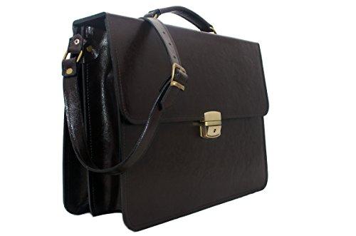 """Koson 38,10 cm (15"""") uomo, in vera pelle italiana, mucca-Valigia professionale, Borsa da dottore, valigetta portadocumenti resistente per Laptop, Unisex, per ufficio"""