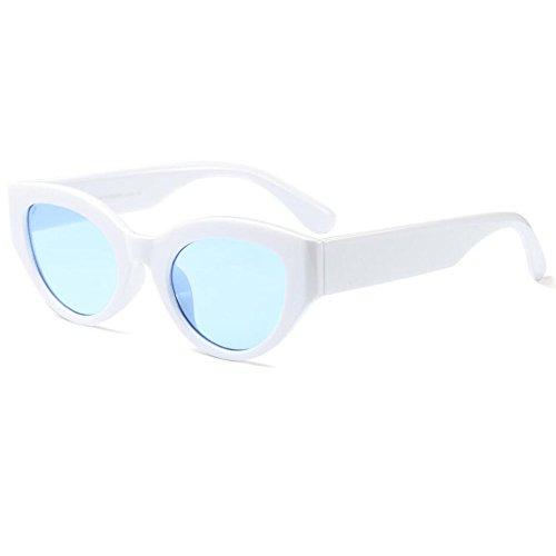 Meijunter Unisex Retro Brillen Oval Sonnenbrillen Kleine Brillen Oval Frame UV400