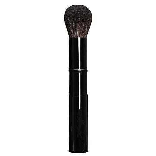 CGQLaine pure métal télescopique blush pinceau brosse à cheveux animaux portable avec couverture stretch allongé, noir