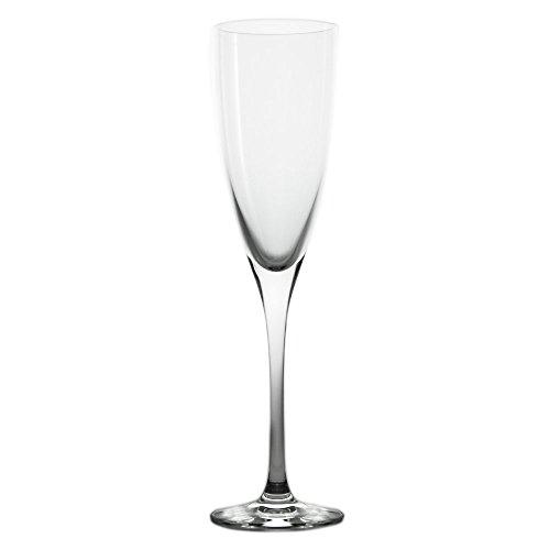 Cristal de Sèvres Florian Set de Verres de Champagne, Verre, 6 x 6 x 22 cm, Lot de 2