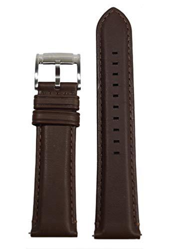 Fossil Uhrband Wechselarmband LB-FS4873 Original Ersatzband FS 4873 Uhrenarmband Leder 22 mm Braun (Pins 22mm Uhrenarmband)