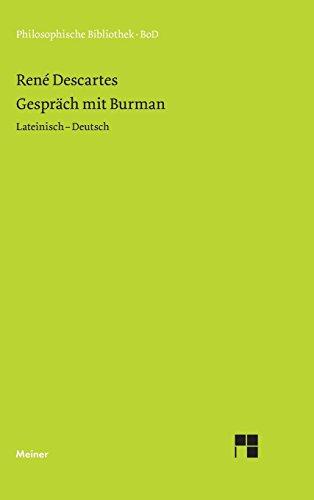 Gespräch mit Burman (Philosophische Bibliothek)