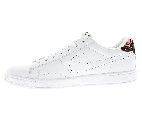 Nike Classic Ultra Lthr, Scarpe da Tennis Uomo, Bianco, Talla Bianco / Rosso / Nero (White / White-Hot Lava-Black)