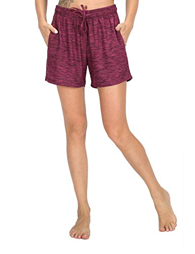 WEWINK CUKOO Modal Damen Schlafanzughose Pyjama Shorts Capri Kurz Stretch Dehnbares Weiches Pyjamahose mit Taschen - Modal Lounge-hose