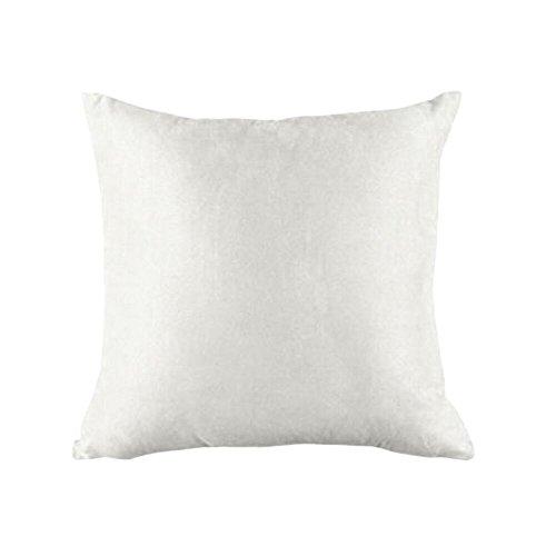 FeiliandaJJ Pillowcase, kissenhülle Kopfkissenbezug Christmas Dekoration Kissenbezug Wildleder Reines Weiß Super weich Sofakissen für Wohnzimmer Sofa Bed Home,45x45cm (Weiß)