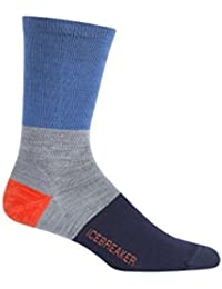 Icebreaker Lifestyle UL Crew Rugby Stripe Calcetines Men Sea Blue/Twister HTHR/Midnight Navy