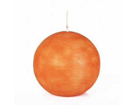 Kugelkerzen rund Ø 8 cm orange gebürstet. DW15649
