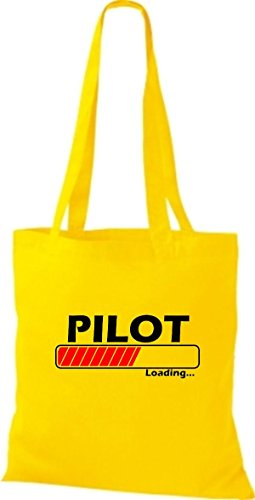Jute Stoffbeutel Pilot Loading viele Farben gelb