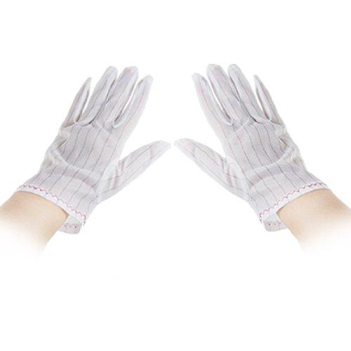 Motif à rayures Noir Blanc antistatique Gants S Lot de 10 paires