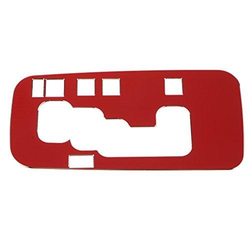 IPOTCH Autos Schaltknauf Rahmen Abdeckung Schalthebel Dekorieren Trim 159x79x1mm - Rot