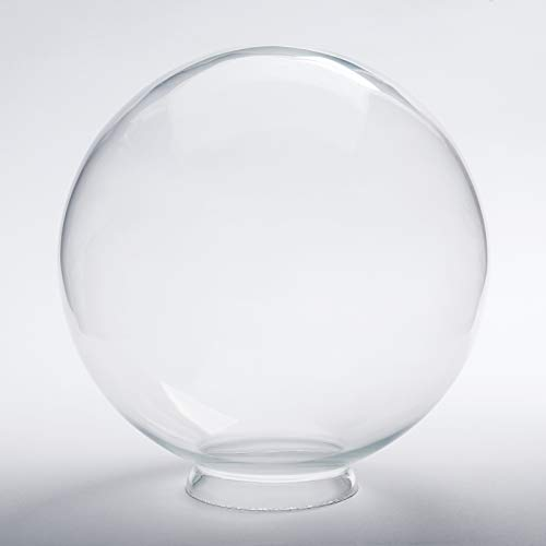 Ersatzglas Lampenglas Griffrand Lampenkugel Klarglas mit Kragenrand Ø250mm Glaskugel Rand Kugelglas
