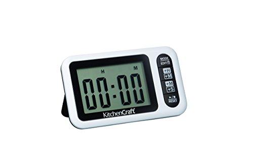 Kitchen Craft KCEZDIGTIM Digital Timer und Uhr, mit Stunden-/Minuten- und Minuten und - Kunststoff-utensil Display