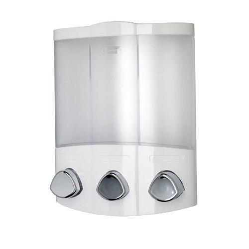Croydex Euro - Dispensador de jabón Trio, color blanco