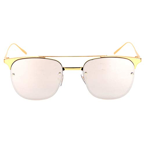 UV400 100% Mens Ladies 'Rippud Klare Linse for Angelbetrieb Polarisierte Linse Sonnenbrille Brille (Farbe : Gold Frame/Silver Lens)