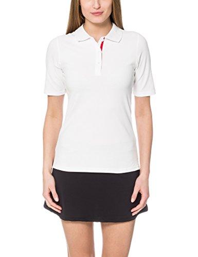 Ultrasport Damen Tennispoloshirt Auckland, Weiß/Rot, XL
