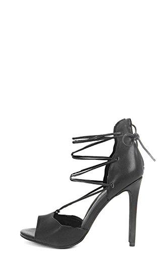 Schwarz Lacey Peeptoe-Pumps Mit Pfennigabsatz Und Bindung Schwarz