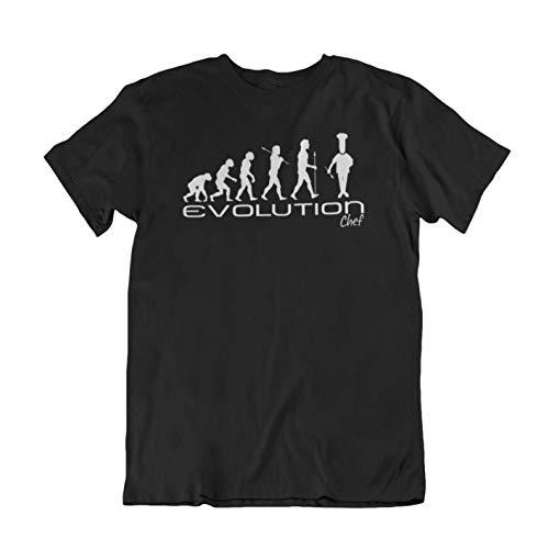 Evolution of a chef Mens Camiseta Para Hombre cook funny unique gift present t shirt Black shirt w...