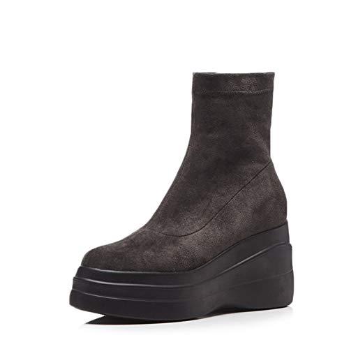 MENGLTX High Heels Sandalen Marke Keile Frauen Mit Hohen Absätzen Stiefeletten Plattformen Slip On Socken Stiefel Nachtclub Tanzschuhe Frau 8 2 (Sandalen 2 Stiefel Plattformen)