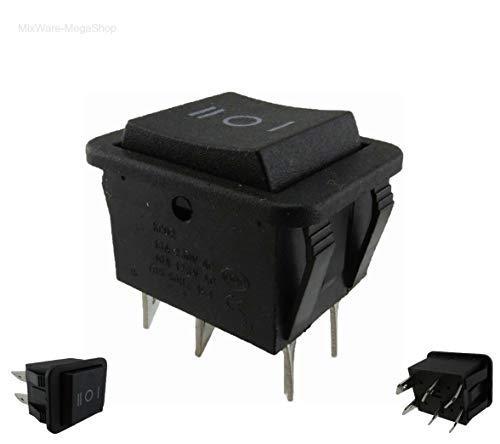 Wipptaster TASTER 6-Pin ON/OFF/ON einbau ca. 29x21,6 mm auch als Ersatz für Rasenmäher (Rasenmäher-pin)
