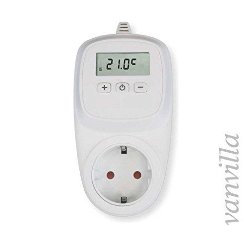 vanvilla Steckdosenthermostat Thermostat für Infrarotheizung Heizung Thermostat Steckdose Nicht programmierbar