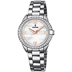Festina MADEMOISELLE Women's Quartz Watch with Silver Dial Analogue Display and Silver Stainless Steel Bracelet F16919/1