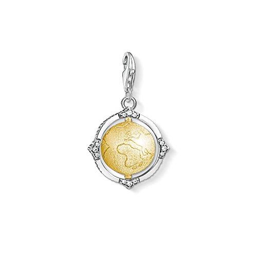 Thomas Sabo Damen-Charm-Anhänger Vintage Weltkugel Charm Club 925 Sterling Silber 1711-849-39