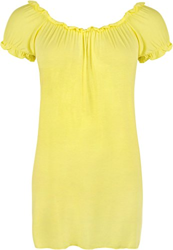 WearAll - Top - Donna Pale Yellow