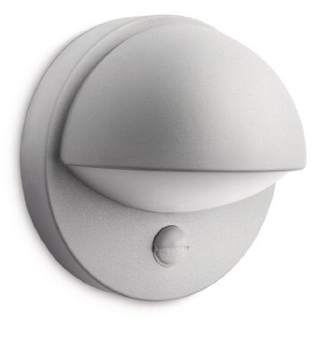 Philips lighting june lampada da parete down con sensore per esterno, grigio, lampadina inclusa