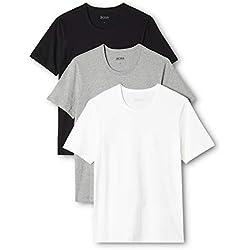 BOSS T-Shirt RN 3p Co Camiseta para Hombre, Multicolor (Assorted Pre-Pack 999), Large, pack de 3