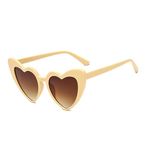 TDPYT Herz Sonnenbrille Frauen Markendesigner Cat Eye Sonnenbrille Retro Love Heart Shaped Brille Damen Shopping Sunglass Uv400