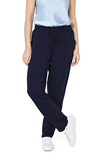 VISSTEME Pantalón Largo Fluido Color Azul Marino