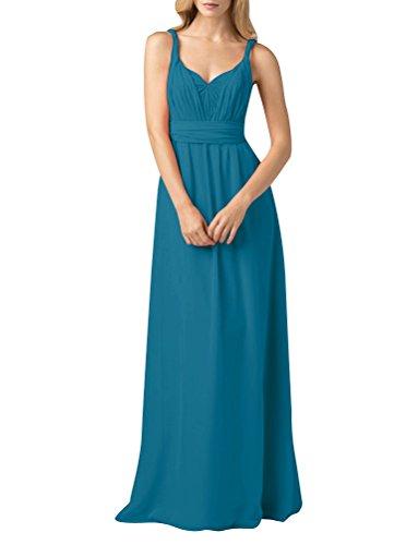 ShiYuan - Robe - Trapèze - Femme Bleu-vert
