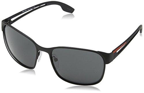 Prada Sport Herren 0PS52TS DG05S0 59 Sonnenbrille, Schwarz (Black Rubber/Grey),