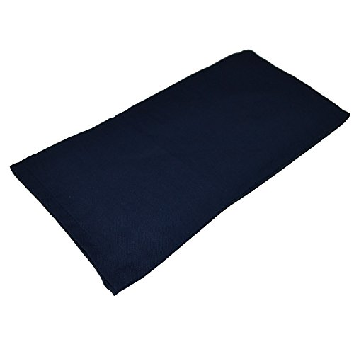 French lavender eye organic and pillows de lin Navy Blue