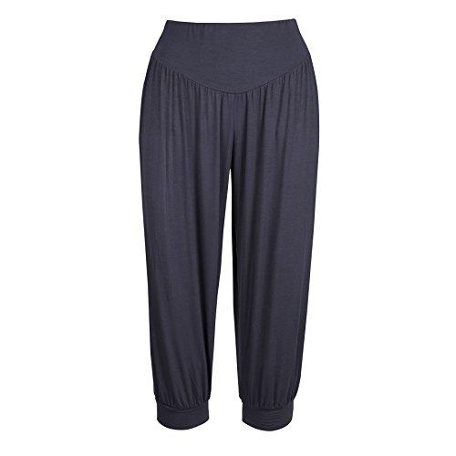 Lofbaz Donne Hybrid Capri 3/4 Long stile di Pantaloni da yoga pilates sportivi harem da yoga Solid Grigio scuro